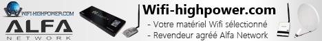 Retrouvez sur Wifi-highpower.com du mat�riel Wifi Alfa Network s�lectionn�. Cartes Wifi USB Highpower et Highsensitivity compatibles mode monitor et injection Awus036h, Awus036nh, antennes omnidirectionnelles avec connecteur RP-SMA...