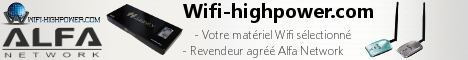 Retrouvez sur Wifi-highpower.com du mat�©riel Wifi Alfa Network s�©lectionn�©. Cartes Wifi USB Highpower et Highsensitivity compatibles mode monitor et injection Awus036h, Awus036nh, antennes omnidirectionnelles avec connecteur RP-SMA...